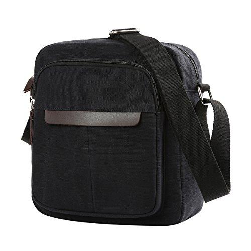 Eshow Canvas Sport Fitness Natur Handbags Travelling Gentlemen Brown Black