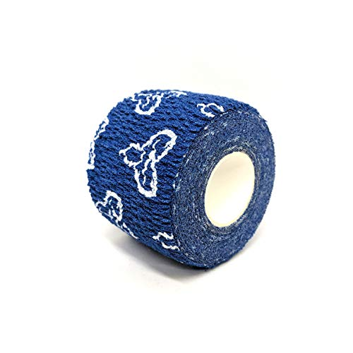 Liftgenie Tearable Elastic Adhesive Weightlifting Tape | Protects Thumbs When Lifting Weights & Prevents Knurling | Stretchy Adhesive Athletic Hook Grip Tape for Weightlifters (Blue, Box of 24) by Liftgenie (Image #1)