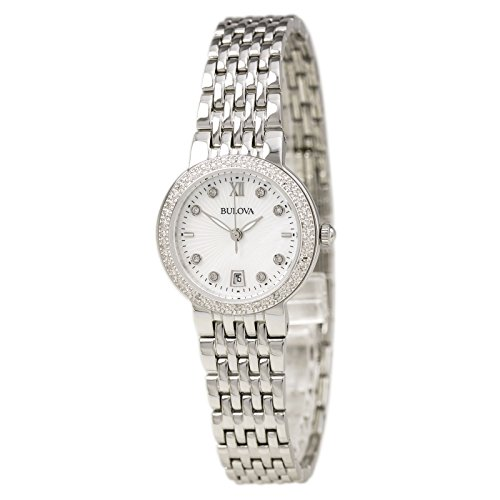 bulova-womens-quartz-stainless-steel-and-silver-plated-casual-watchmodel-96r203