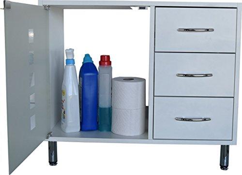 Waschbeckenunterschrank stehend mit schubladen  Amazon.de: Waschbeckenunterschrank | Waschtischunterschrank ...