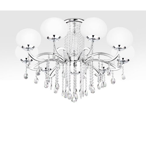 Y&L® Modern Luxury Living Room Ceiling Lamp Fixture Crystal Chandelier Lighting Glass Ball Shade by YL (Image #2)