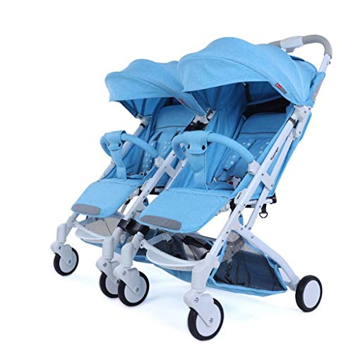 Tandem Stroller,Twin Tandem Baby Stroller with Adjustable Backrest, Can Be Split Into Two Separate Strollers (Color : 1)