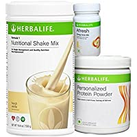 Herbalife Weight Loss Package- Vanilla Shake 500gm, Personalized Protein Powder 200 Gm and Afresh Lemon 50 Gm