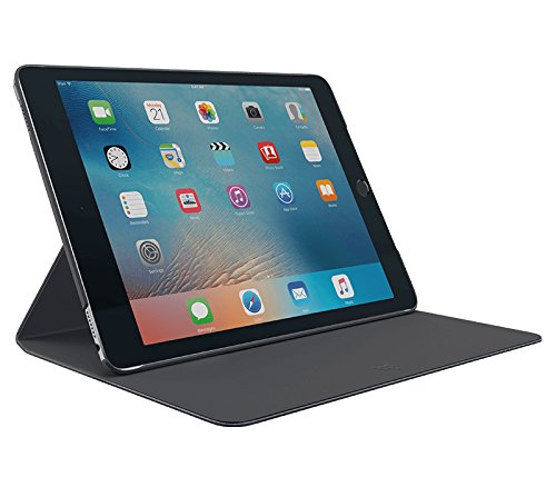 Logitech 939-001466 Hinge  Slim and Flexible Case with Any-Angle Stand for 9.7-Inch Apple iPad Pro - Black