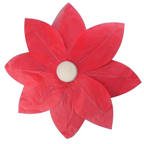LumaBase-56406-6-Count-Floating-Lotus-Paper-Lanterns-Red