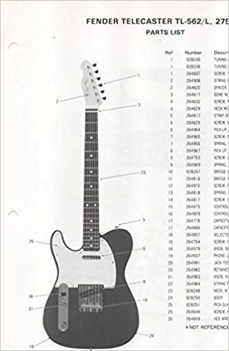 [DHAV_9290]  Parts List Diagram for FENDER Telecaster TL-562/L Electric Guitar (275120):  Fender Electronics, SUNN: Amazon.com: Books | Free Download Acoustic Electric Guitar Wiring Diagram |  | Amazon.com