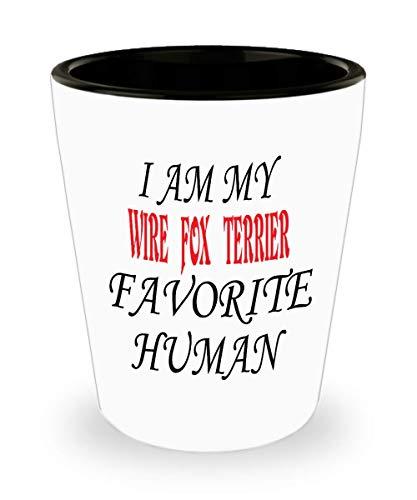 White Ceramic Shot Glass I Am My Wire Fox Terrier Favorite Human Dog Mug Coffee Mug For Dad Mom Birthday For Special Gift,al8752