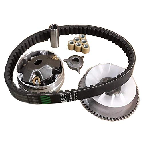 (Amhousejoy Variator Belt Drive Set for GY6 4Stroke 49cc 50cc Chinese Scooter 139QMB)