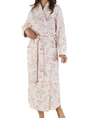 "Slenderella Pink Floral Print 52"" Dressing Gown HC04307"