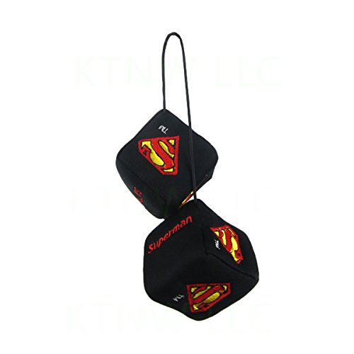Officially Licensed DC Comics Polyester Auto Dice Rear View Mirror Ornament - Superman