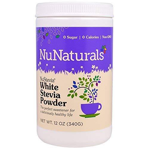 (NuStevia White Stevia Powder, 12 oz (340 g) Pack of 2)