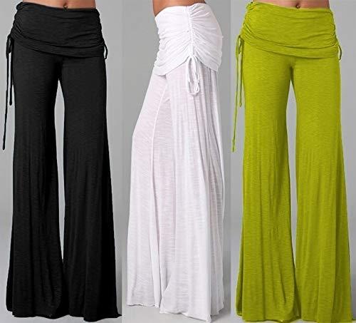 Amazon.com: Fashion Boho Women Hose Pantalon High Waist Wide ...