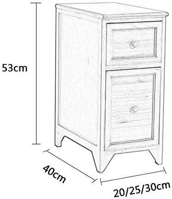 WKAP_N_A 引き出しキャビネット、木材狭いキャビネット、浴室キッチンストレージキャビネットベッドミニベッドサイドキャビネット収納キャビネット (Color : Red, Size : 20cm)