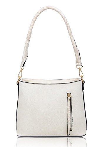 Bag ladies Small Zip Ivory Shoulder Messenger Women's Cross Details Handbag body wRPznzdqa