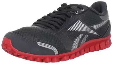 Reebok Men's Realflex Optimal Running Shoe,Gravel/Silver/Red,8 M US