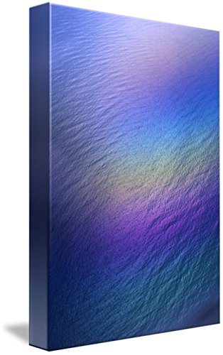 Wall Art Print entitled Hawaii, Rainbow Colors Over Water, Aerial Polarize by Design Pics   16 x 24