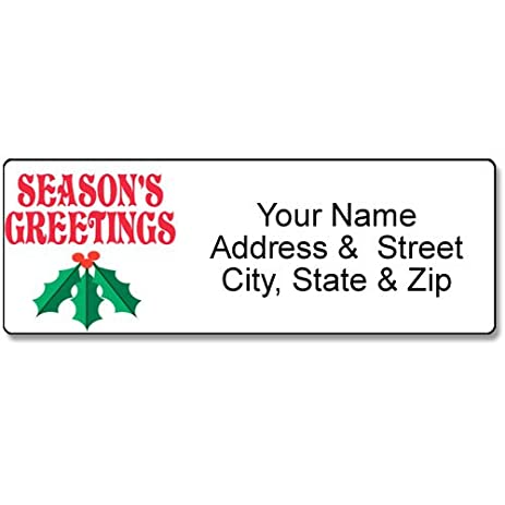amazon com mistletoe address label christmas customized return