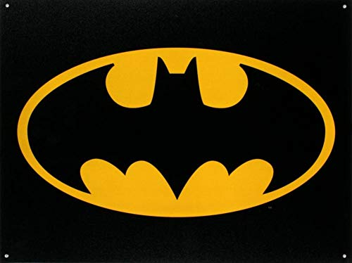 RTSX Batman Logo Tin Sign, 16x12 ()