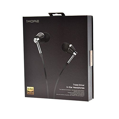 1MORE Triple Driver In Ear Headphones (Earphones, Earbuds) with Microphone (Titanium) - Image 5