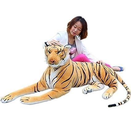 Amazon Com Jesonn Realistic Giant Soft Stuffed Bengal Tiger Plush