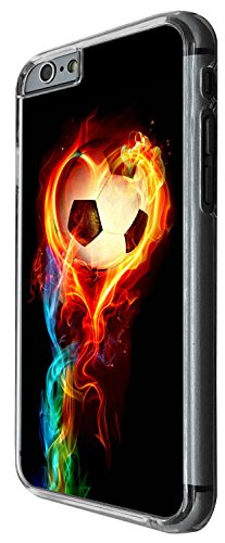 1484 - Cool Fun Trendy sports goal soccer football fire win champions Design iphone 4 4S Coque Fashion Trend Case Coque Protection Cover plastique et métal - Clear