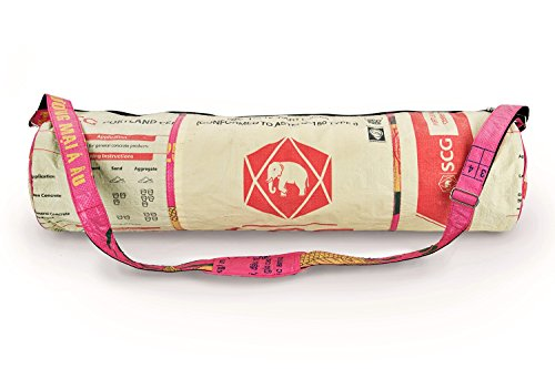 Yoga Mat Bag (Red Cream Elephant) For Sale