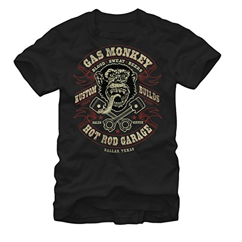 Gas Monkey Men's Hot Rod Garage Black (Hot Rod Garage)