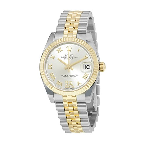 Rolex Datejust Lady 31 Silver Dial Stainless Steel and 18K Yellow Gold Rolex Oyster Automatic Watch 178273SRDO