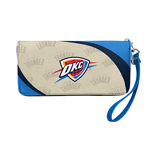 NBA Oklahoma City Thunder Curve Zip Organizer Wallet (Logo Credit Oklahoma Card)