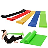 Exercise Resistance Bands Set by Lhedon,High Elasticity Long Fitness Stretch Band and 5 Loop...