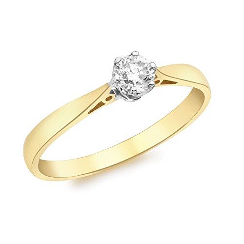 Or-1.58.409z-Femme-Or jaune 9carats avec diamant solitaire 0,25carats