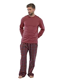Mens Pajama Set with Flannel Bottoms & Jersey Top / PJ Set / Loungewear