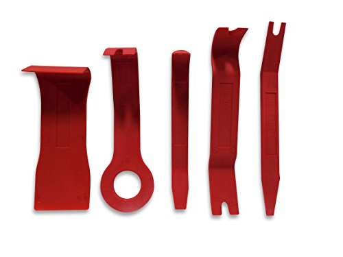 Astro 4505 5-Piece Fastener and Molding Remover Set (Plastic Auto Body Prying Tools)