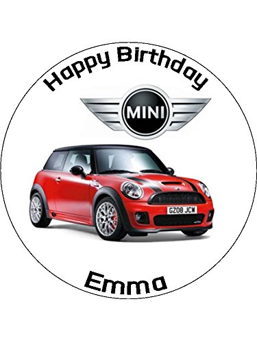 7 5 Mini Car Edible Icing Birthday Cake Topper Amazon Co Uk