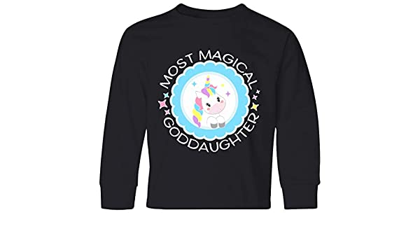 Cute Unicorn Toddler T-Shirt inktastic Most Magical Goddaughter
