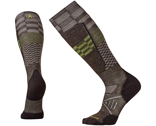 Smartwool Men's PhD Ski Light Elite Pattern Socks (Chestnut) Large (Smartwool Crew Work Boots)
