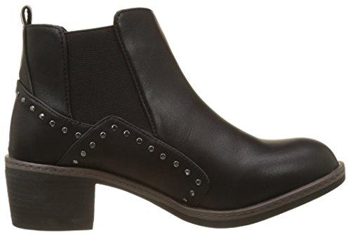 Les Carole Damen P'tites Boots Noir Noir Chelsea Bombes rPwrfT