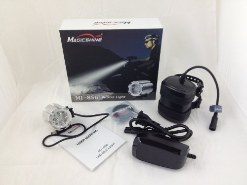 Magicshine Mj-856B 1600 Lumen LED Bike Light with Improved 6.6Ah Battery (50% more capacity than the default battey)