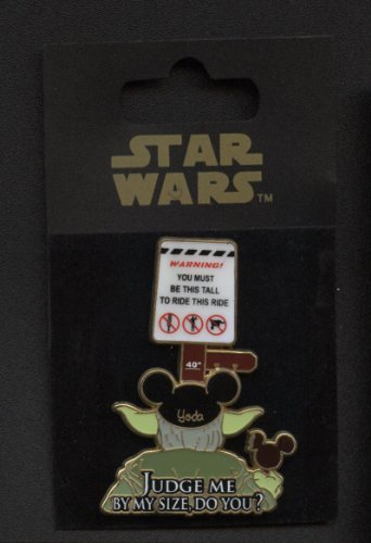 Disney Star Wars - Yoda Height Requirement Pin -
