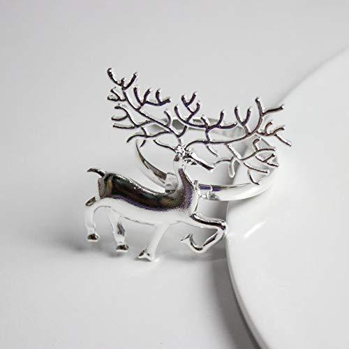 Culturemart 6Pcs Metal Christmas Deer Shape Napkin Ring Napkin Buckle Hotel Restaurant Home Dinner Table Decoration Serviette Holder
