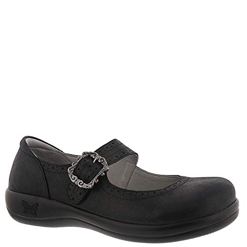 Alegria Women's Kourtney Anise Baby Tumble 40 Regular EU - Nappa Suede Footwear Black