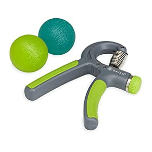 Gaiam Restore Strong Hands Kit (Massage Therapy Balls and Easy Adjust Hand Grip)