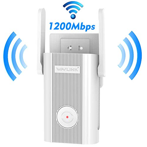 AC1200 WiFi Extender,Wavlink Dual Band 2.4GHz and 5GHz Available Wireless Range Repeater Signal Amplifier Booster for Home Office with 2 x External Antennas,WPS,DHCP,Online Firmware - Wireless Band Dual Ap