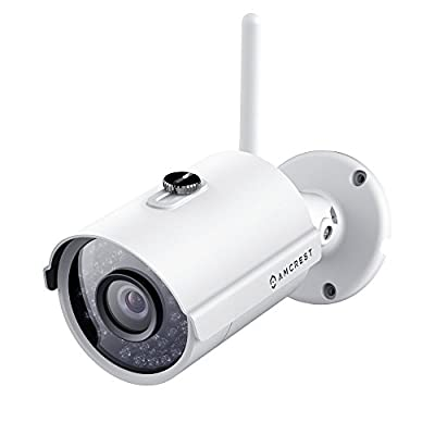 Amcrest IP2M-842 ProHD Outdoor 1080P Wi-Fi Wireless IP Security Bullet Camera, IP66 Weatherproof (Certified Refurbished) by Amcrest
