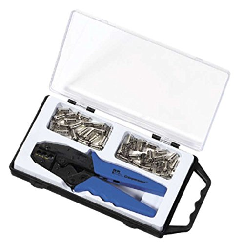 Crimpmaster F-Type (CATV) Connector Kit with Crimper, Die, and Connectors in Carrying Case