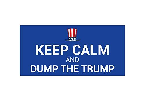 StickerPirate Car Magnet Keep Calm and Dump The Trump TRM 148