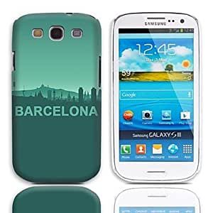 TOPAA Barcelona Design Pattern Hard Case with 3-Pack Screen Protectors for Samsung Galaxy S3 I9300