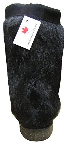 Rabbit Mukluk Real Fur with Women's Black qBtxRwRU