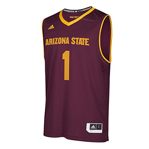 adidas Adult Men Replica Basketball Jersey, Maroon, ()