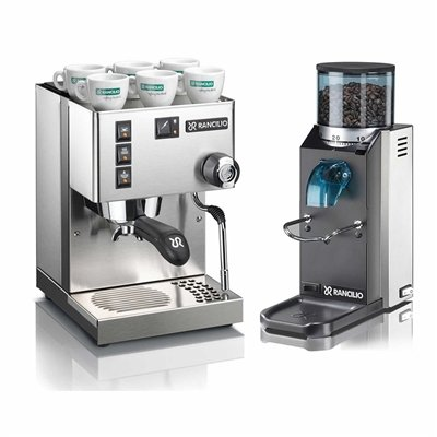 Rancilio Silvia M V5 and Rocky Bar Combo – Doserless